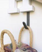 Ganci appendiabiti con scritta in legno dipinta a mano su ordinazione