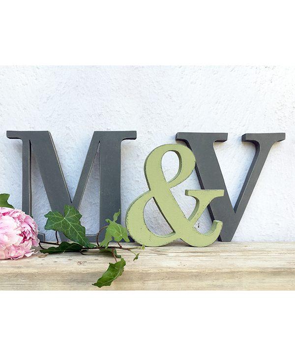 Lettere in legno con & nordic stile
