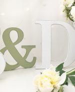 & in legno per matrimonio shabby