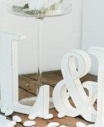 Lettere in legno per matrimonio