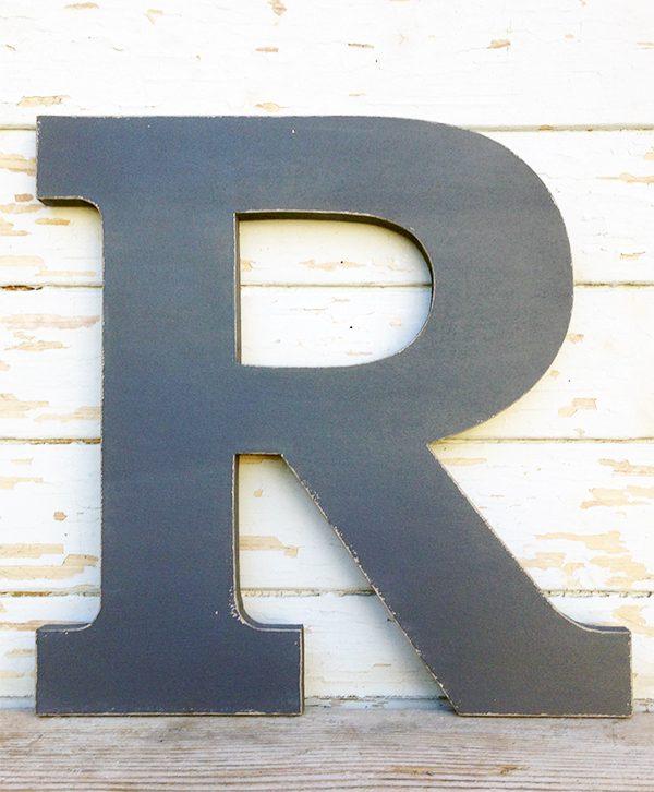 Lettere su misura in legno dipinto a mano