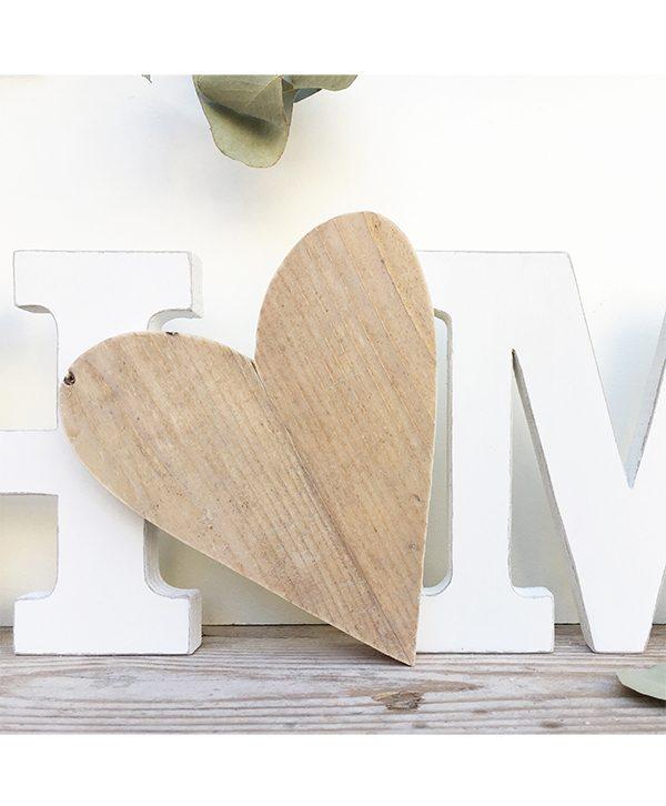Lettere e cuore per scritta HOME in legno fatto a mano e personalizzabile