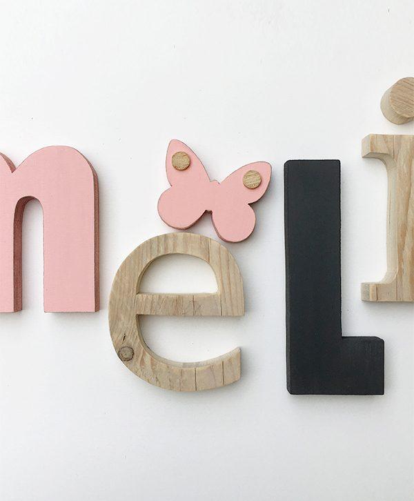 Lettere in legno per camera bambini