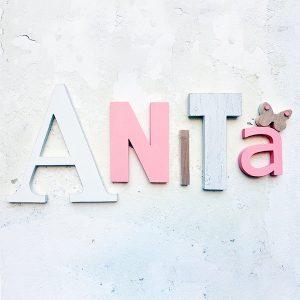 lettere in legno per nome di bambina