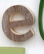 Lettere in legno di recupero per nomi di bambino