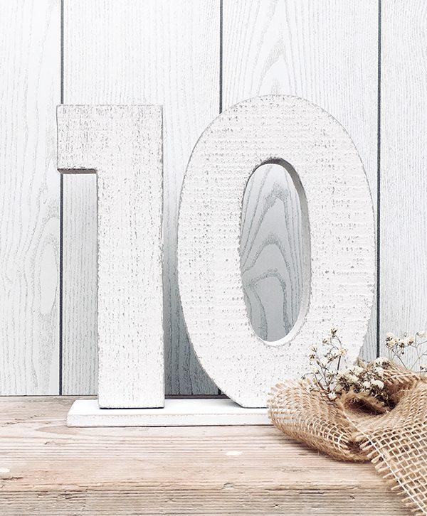 Numeri in legno di recupero per matrimonio personalizzato