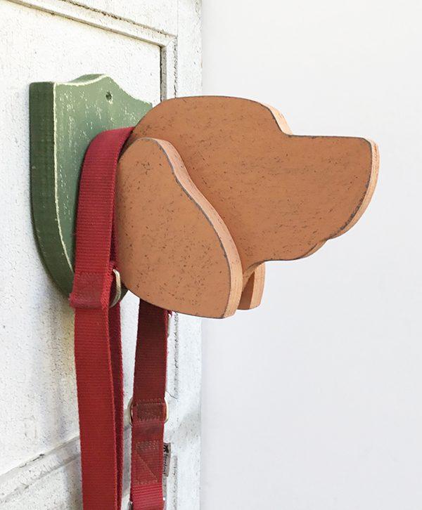 Portaguinzaglio personalizzabile a forma di testa di cane