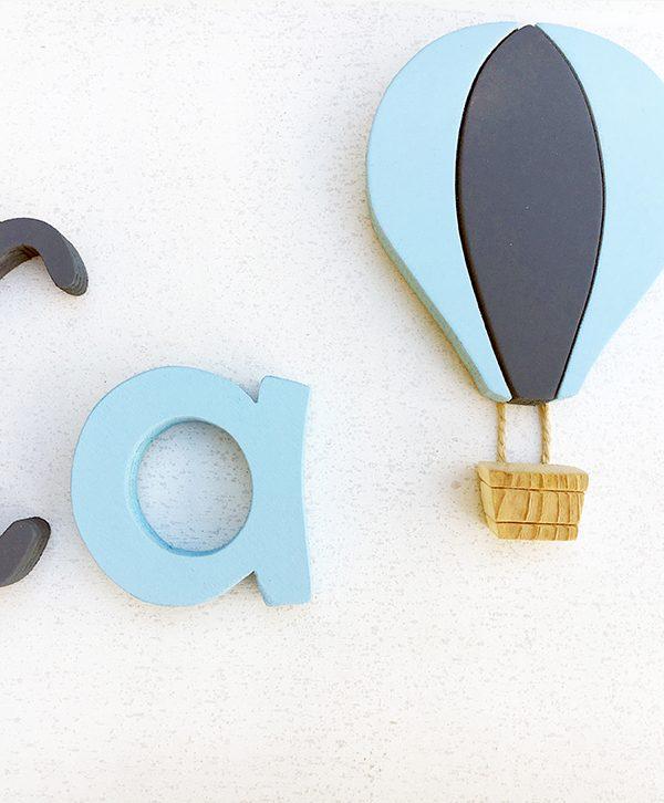 mongolfiera in legno per bambini