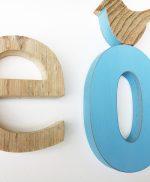 Lettere in legno per nome di bambino