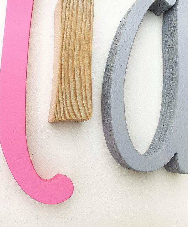 Lettere per cameretta in legno