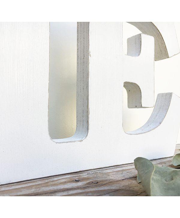 Lettere in legno dipinto a mano per scritta Home