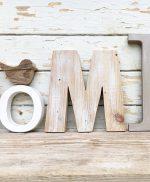 Lettere in legno per scritta HOME originale e fatte a mano