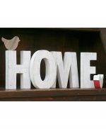 Scritta HOME in legno con uccellini personalizzabile nelle dimensioni e nei colori
