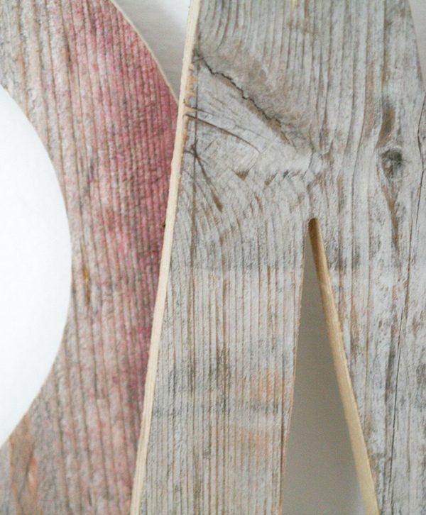 Lettere per scritta HOME in legno di recupero dipinto