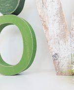 Lettere in legno di recupero naturale per scritta LOVE
