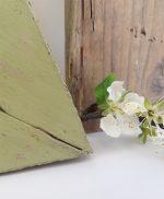 Cuore e lettera in legno di recupero per scritte boho chic