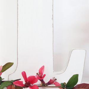 Lettera in legno per scritta LOVE in stile boho chic