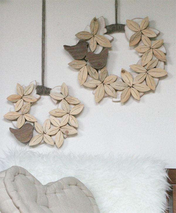 Ghirlande personalizzabili in legno di recupero naturale