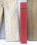 Lettere in legno di recupero naturale e colorato a mano in stile shabby chic