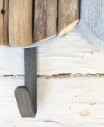 Pesce in legno di recupero con gancio appendiabiti