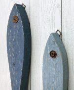 Pesci in legno di recupero per casa al mare