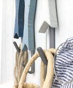 Ganci appendiabiti per casa al mare con pesci in legno