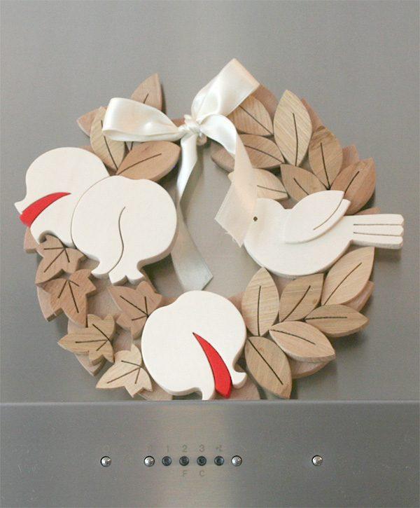 Ghirlanda personalizzata in legno con melograni