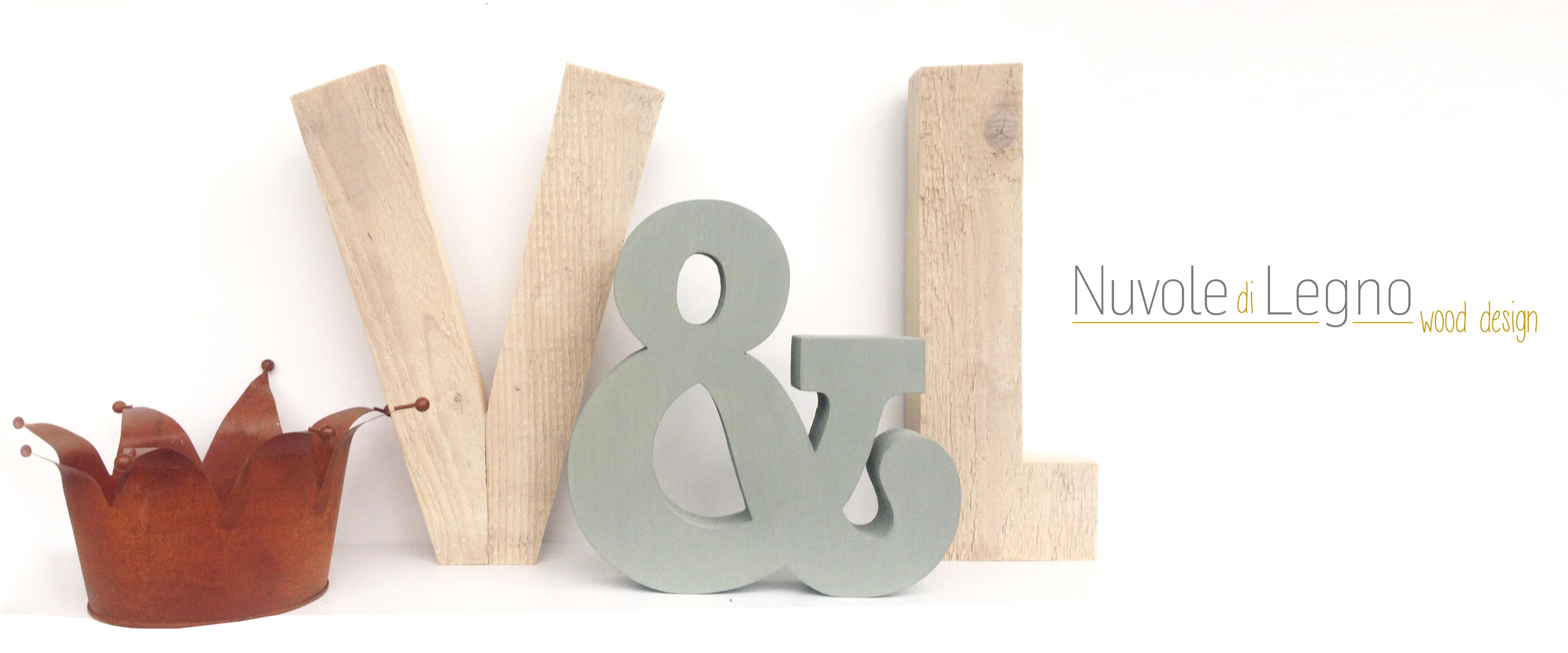 lettere personalizzate in legno di recupero