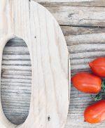 Lettera in legno di recupero per cucina in stile shabby chic