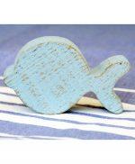 Pesci in legno di recupero colorato e personalizzato