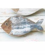 Pesce in legno di recupero per casa al mare dipinto a scelta