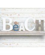 Scritta BEACH per casa al mare in legno di recupero personalizzabile