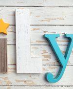 Lettere e stella per scritta FAMILY personalizzabile nei colori