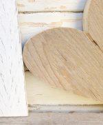Cuore e lettera in legno di recupero naturale e colorato a mano