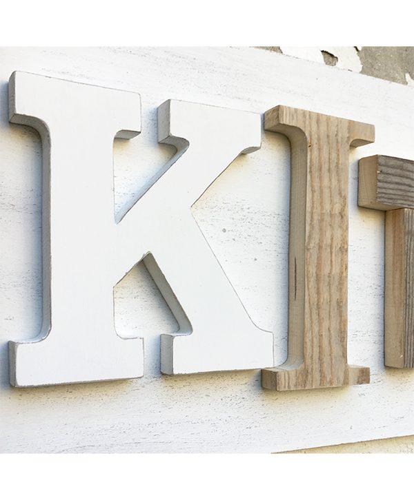 Lettere in legno per scritta KITCHEN personalizzabile nei colori
