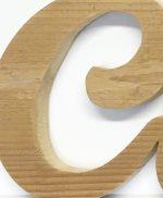 Lettere in legno naturale per scritte in corsivo