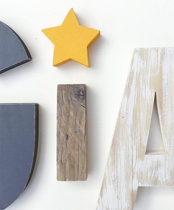 Lettere in legno per comporre scritte personalizzate