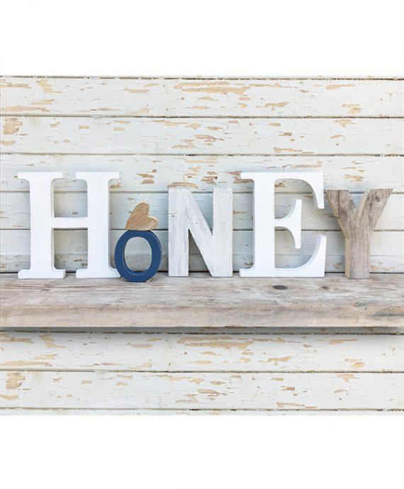 Scritta Honey in legno personalizzabile