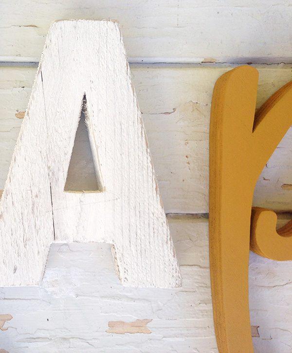 Lettere in legno fatte a mano personalizzate
