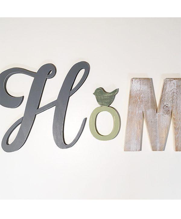 Scritta Home con H grigia
