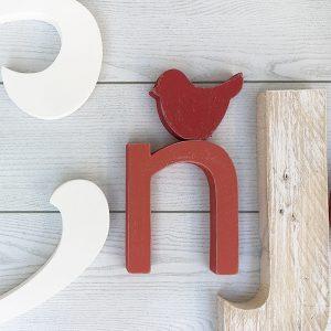 lettere in legno con decorazione personalizzabile