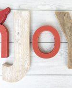 Lettere in legno naturale e colorato per comporre scritte