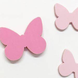 Farfalle per cameretta in legno dipinto in colori a scelta