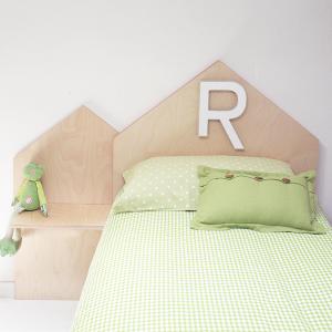 Testata personalizzata in legno di betulla per letto di bambino