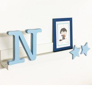 Mensola personalizzata con iniziale del nome per camera bambini