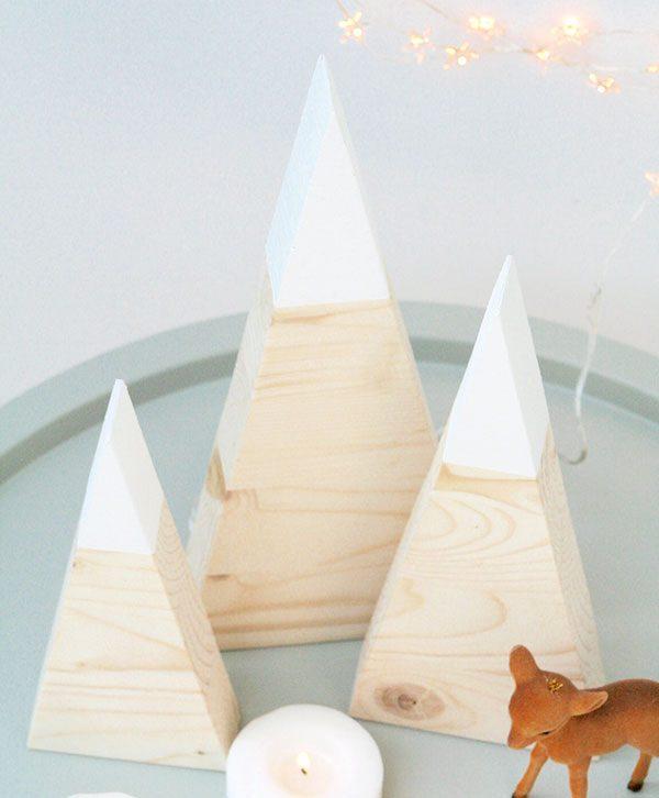 Abeti di Natale nordic style in legno di betulla