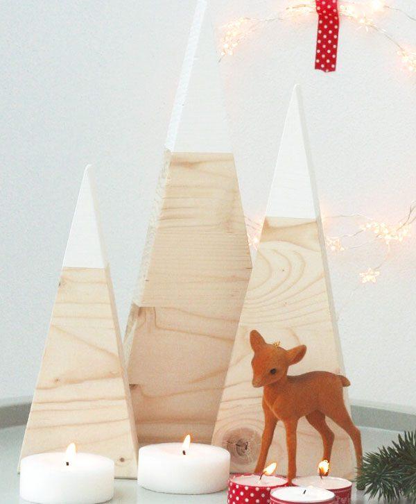 Decorazioni natalizie in stile nordico in legno di betulla