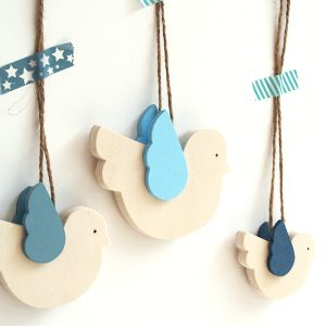 Uccellini in legno per bambini