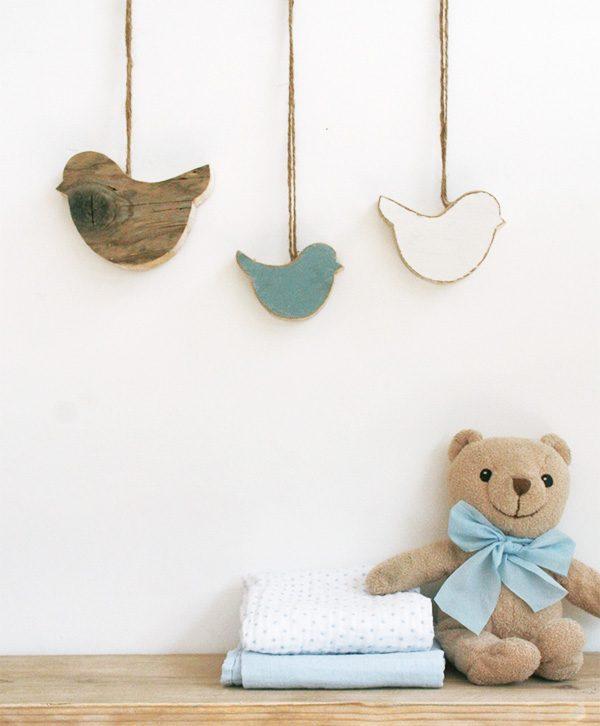 Uccellini personalizzabili da appendere per decorare la cameretta
