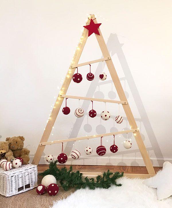 Albero Natale Immagini.Albero Di Natale A Triangolo In Legno Nuvole Di Legno
